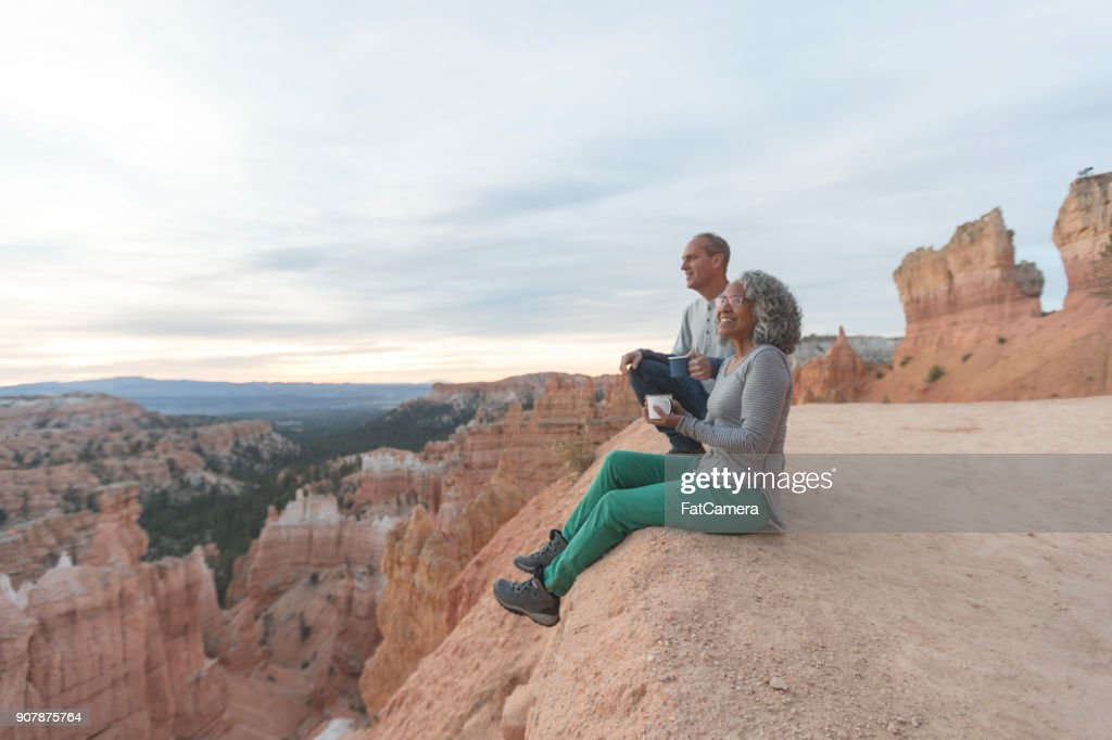 Coffee on a Cliff : Stock Photo