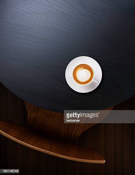 Coffee on coffe table