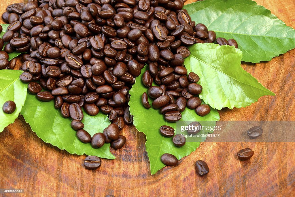 Coffee on wood background : Stock Photo