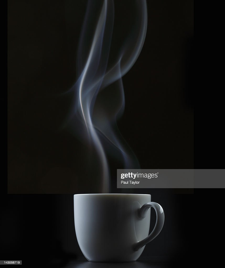 Coffee or Tea Cup with Steam : Stock Photo