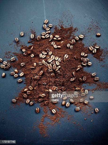coffee - ground coffee stock photos and pictures