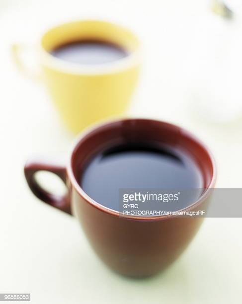 coffee - two objects stock photos and pictures