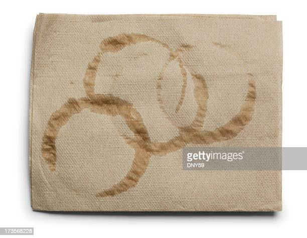 coffee rings - stain test stock pictures, royalty-free photos & images