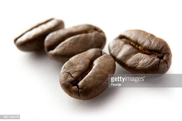 Coffee: Roasted Coffee Beans Isolated on White Background