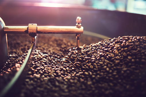 Coffee Roaster Cooling Batch of Beans 479836318