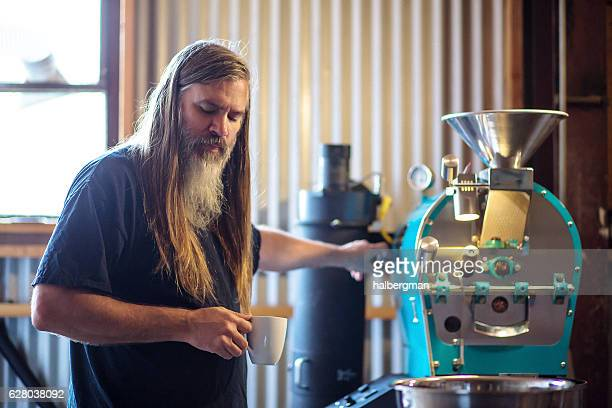 Coffee Roaster Daydreaming at Work