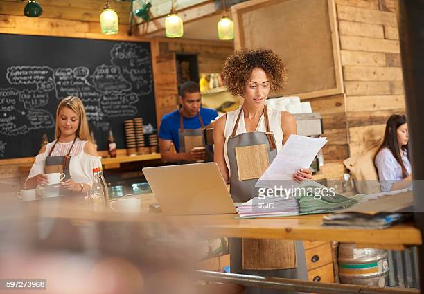 Coffee shop bills