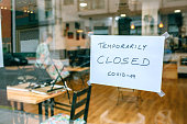 Coffee shop closed by covid-19