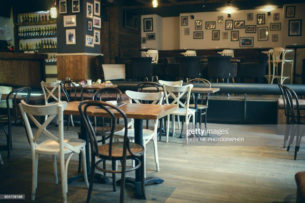 Coffee-Shop-Doppelzimmer : Stock-Foto