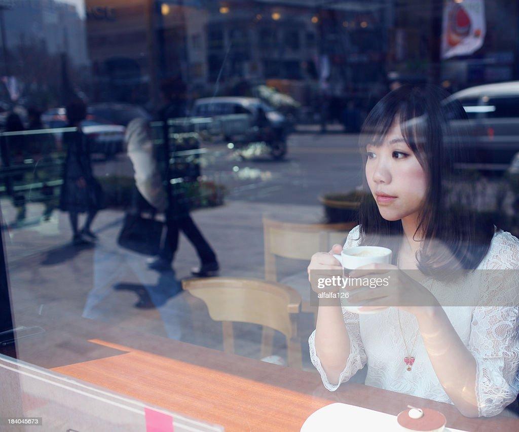 Coffee shop in Seoul : Stock Photo