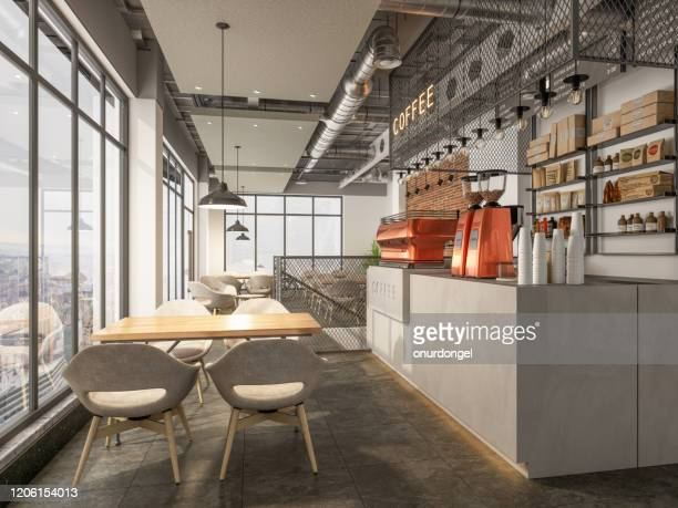 coffee shop interior - coffee shop stock pictures, royalty-free photos & images