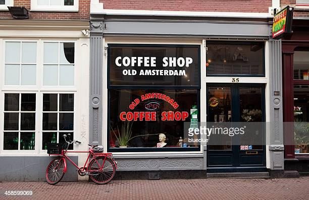 la tienda de café amsterdam, viejo - barrio rojo fotografías e imágenes de stock