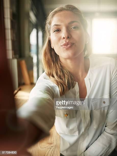 Coffee shop selfies