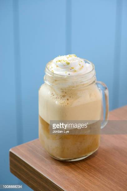 coffee smoothie - mocha stock pictures, royalty-free photos & images