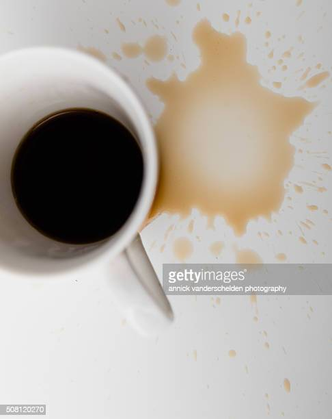 coffee stain - black seed oil stock pictures, royalty-free photos & images