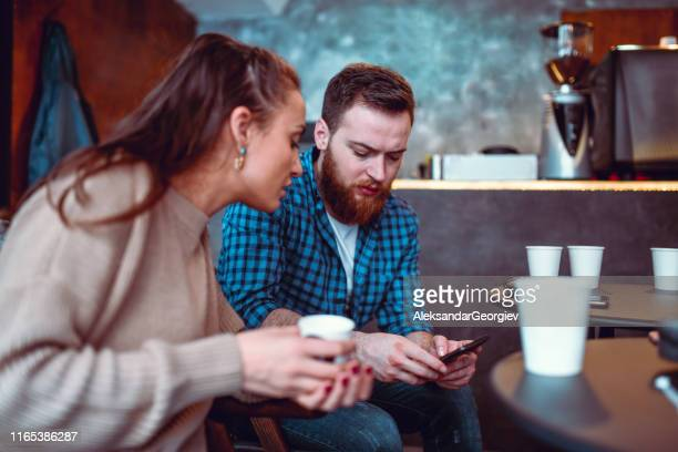 coffee time for friends - mindzoom 2 stock pictures, royalty-free photos & images