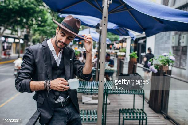 coffee time - modern manhood stock pictures, royalty-free photos & images