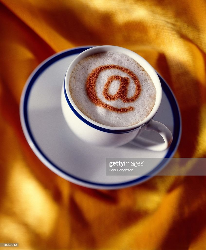 Coffee with ampersand : Stock Photo