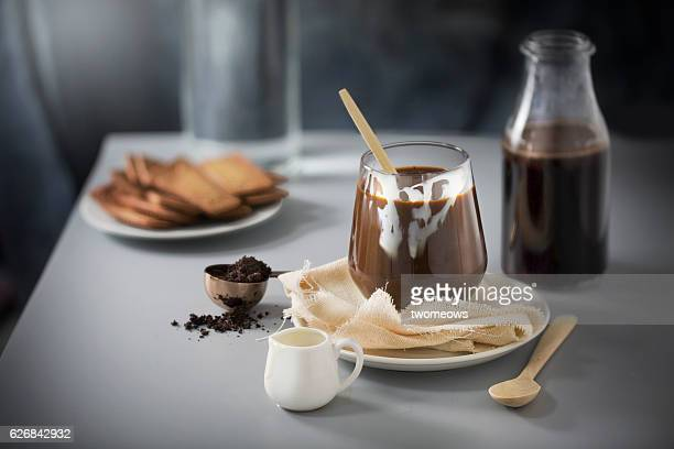Coffee with condense milk.