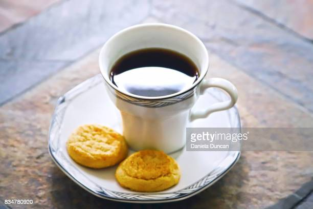 coffee with cookies - snickerdoodle stock pictures, royalty-free photos & images