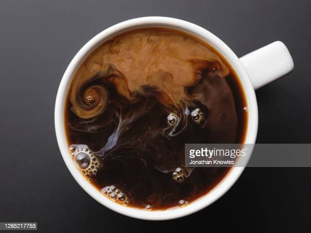 coffee with cream - coffee stock pictures, royalty-free photos & images