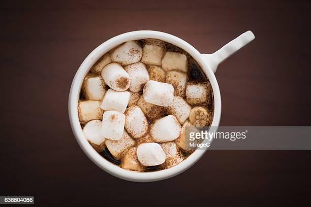 coffee with marshmallows - hot chocolate stock pictures, royalty-free photos & images