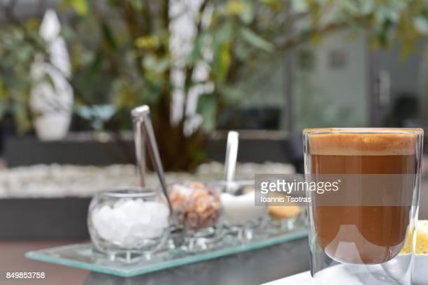 Coffee with raw sugar