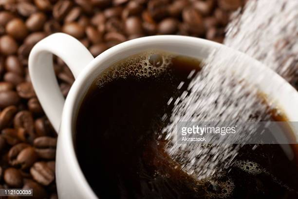 coffee with sugar - sugar coffee stock photos and pictures