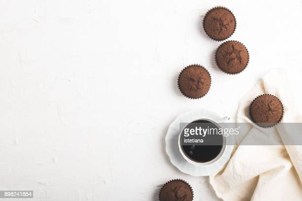 Coffee with sweet chocolate muffins
