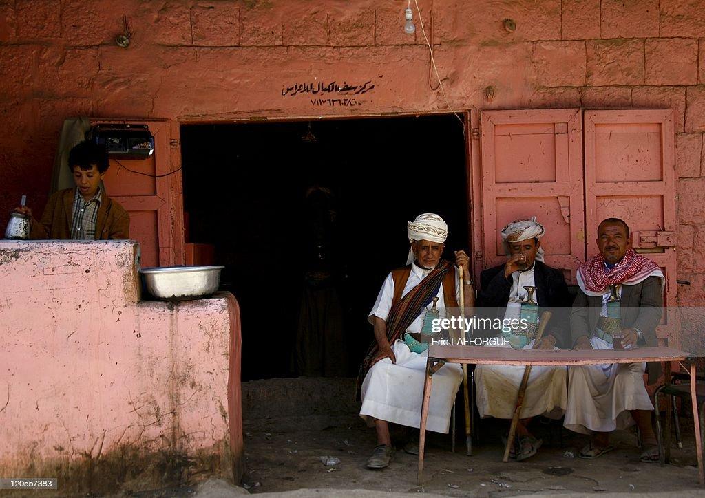 Coffeehouse In Amran, Yemen On May 21, 2006 - : News Photo