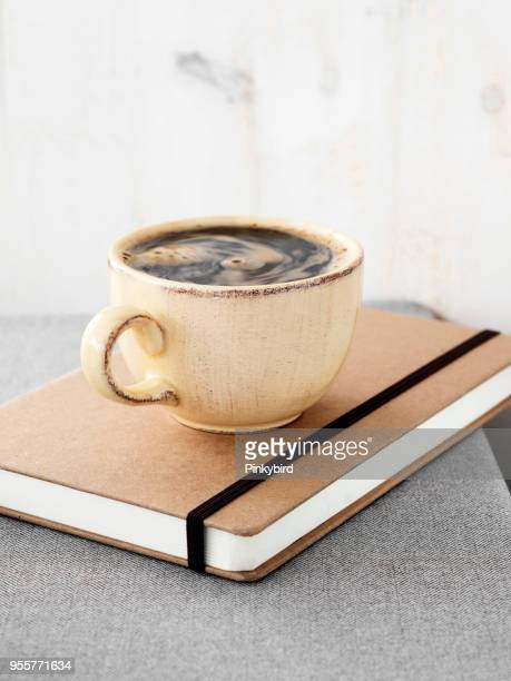 coffee,notebook,table,background,coffee for morning,paper, calendar, - blank magazine ad stock pictures, royalty-free photos & images