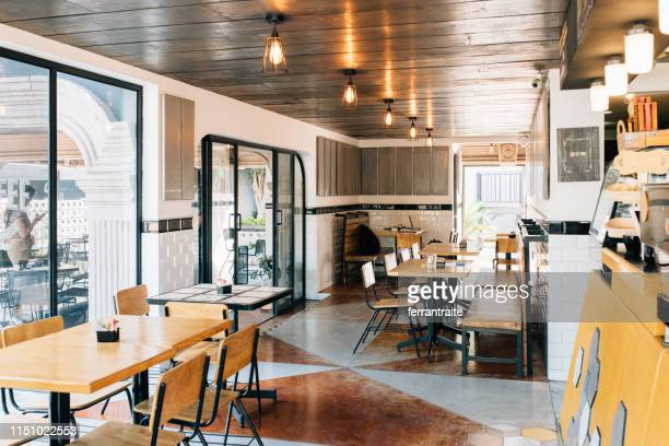 coffeeshop interior - coffee shop stock pictures, royalty-free photos & images