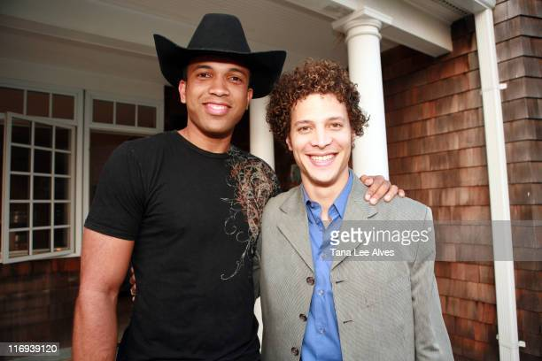 Coffey Anderson and Justin Guarini during The Creative Coalition Cohosts the Launch of Core Sessions July 1 2006 in Sag Harbor New York United States