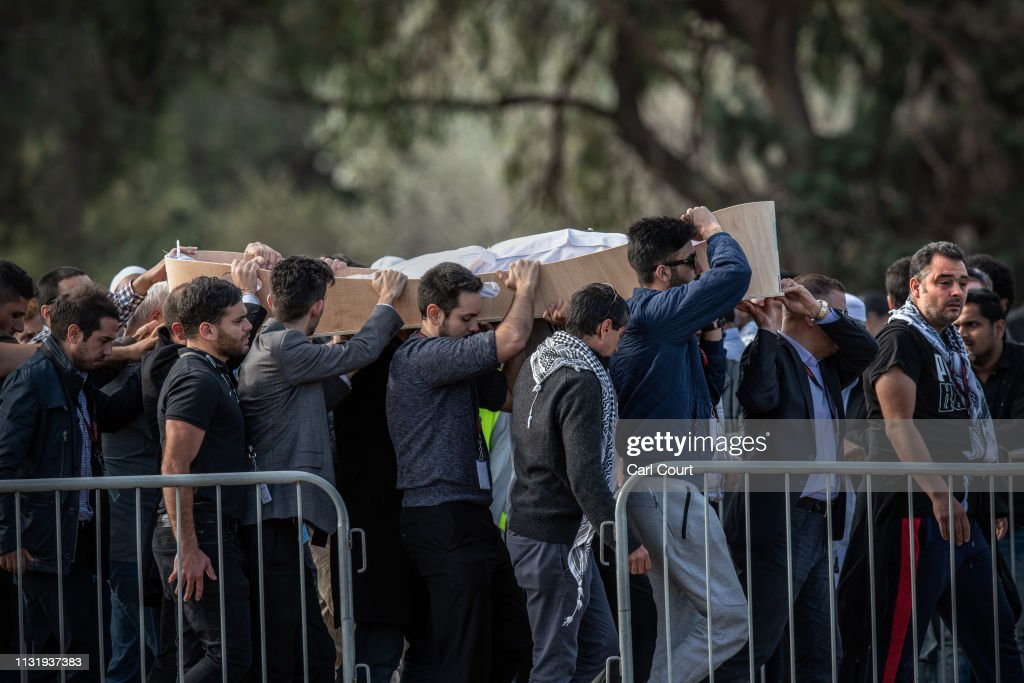 NZL: Burials Held For Victims Of Christchurch Mosque Attack On Week On