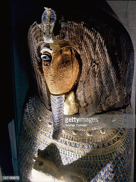 Coffin from the tomb KV55 The face and the cartouche have been destroyed The mummy inside this coffin has caused controversy in archaeological...