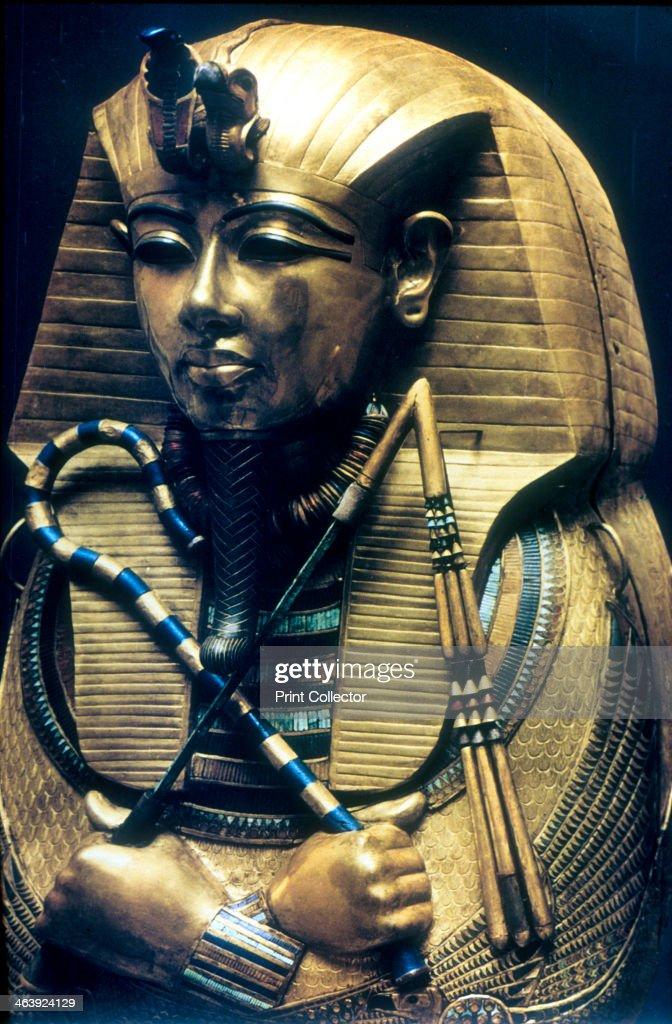 Coffin of Tutankhamun, Ancient Egyptian Pharaoh, c1325 BC. Artist: Anon : News Photo