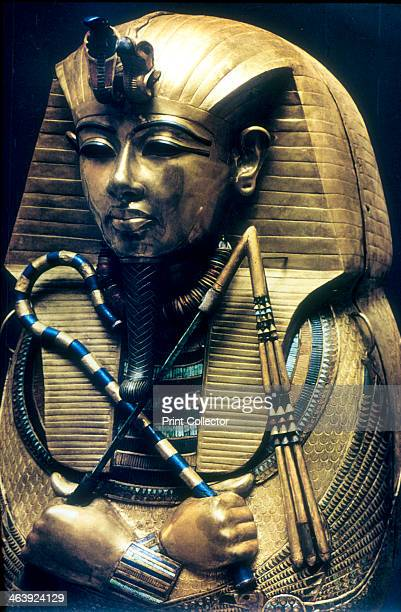 Coffin of Tutankhamun Ancient Egyptian Pharaoh c1325 BC Representation of the 18th dynasty Pharaoh Tutankhamun from the coffin containing his mummy...