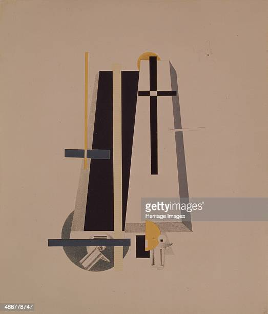 Coffinmakers Figurine for the opera Victory over the sun by A Kruchenykh 19201921 Artist Lissitzky El