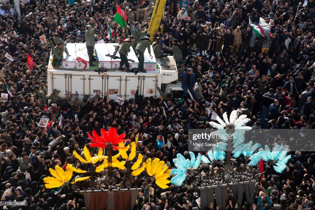 Funeral Held For Maj. Gen. Qassim Suleimani And Others Killed By U.S. Strike : ニュース写真