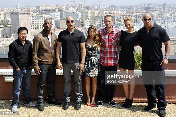 COFFLARDThe cast of the movie 'Fast and Furious 5' director and producer Justin Lin US actors Tyrese Gibson and Vin Diesel Spanish actress Elsa...