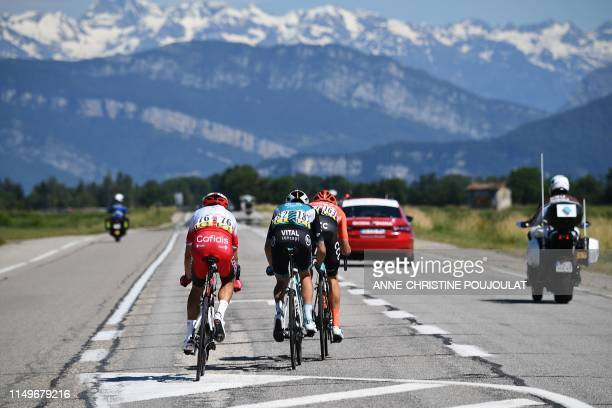 Cofidis, Solutions Credits rider France's Stephane Rossetto, Vital Concept B&B Hotels rider France's Yoann Bagot and CCC Team rider Italy's...