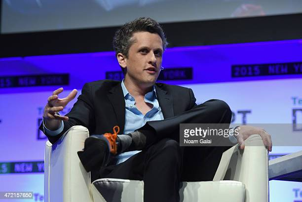 Co-founder and CEO of Box, Aaron Levie speaks onstage during TechCrunch Disrupt NY 2015 - Day 1 at The Manhattan Center on May 4, 2015 in New York...