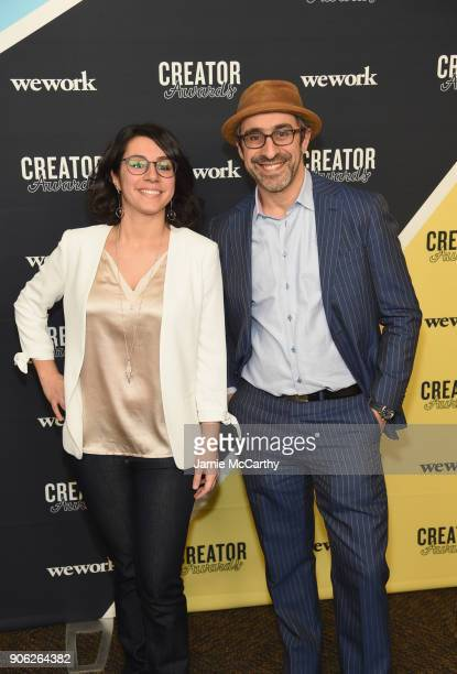 Cofounder and CEO of Eat Offbeat Manal Kahi and cofounder and COO of Eat Offbeat Wissam Kahi attend as WeWork presents Creator Awards Global Finals...