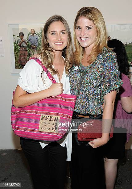 CoFounder and CEO of FEED Projects Lauren Bush and Jenna Bush pose for a photo at UNICEF's Next Generation Photo Benefit at Phillips de Pury Company...
