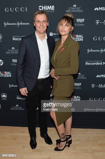 CoFounder and CEO of Global Citizen and Global Poverty Project Hugh Evans and Paris Jackson attend Global Citizen Live at NYU Skirball Center on...