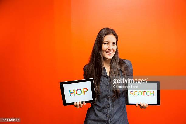Cofounder and CEO of Hopscotch Jocelyn Leavitt is photographed for Glamour Magazine on July 16 2014 in New York City