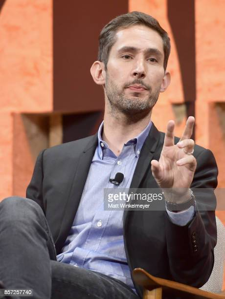 CoFounder and CEO of Instagram Kevin Systrom speaks onstage during Vanity Fair New Establishment Summit at Wallis Annenberg Center for the Performing...
