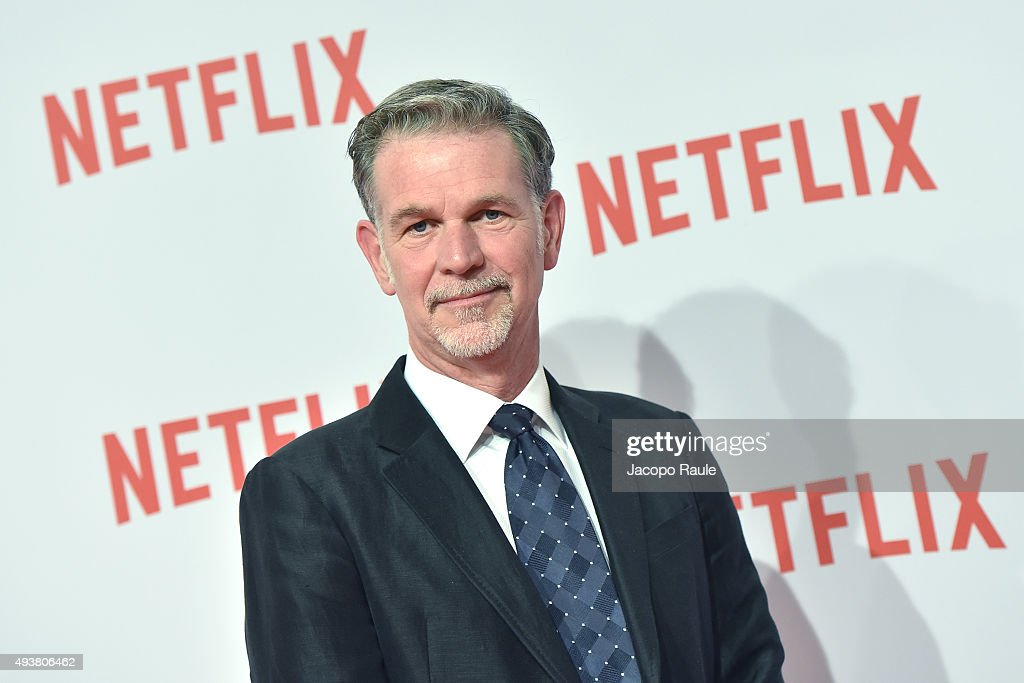 Co-founder and CEO of Netflix Reed Hastings attends a red carpet for the Netflix launch at Palazzo Del Ghiaccio on October 22, 2015 in Milan, Italy.