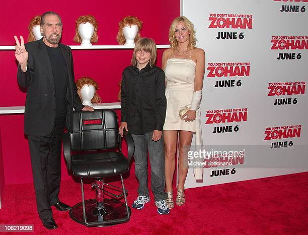 CoFounder and CEO of Paul Mitchell John Paul DeJoria son John Anthony DeJoria and wife Eloise DeJoria attend the Columbia Pictures screening of You...