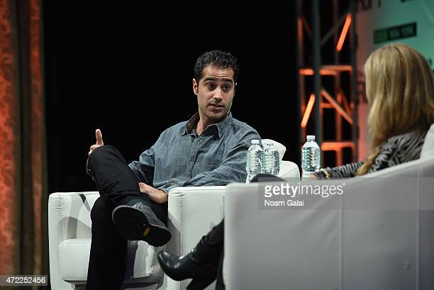 CoFounder and CEO of Periscope Kayvon Beykpour and Executive Producer of Video at TechCrunch Sarah Lane speak onstage during TechCrunch Disrupt NY...